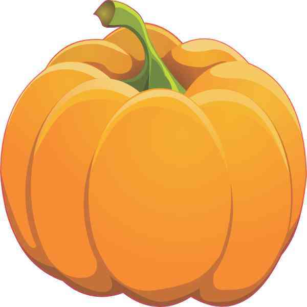 Left Stem Pumpkin Sticker