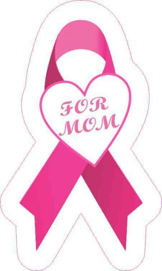 For Mom Breast Cancer Ribbon Sticker
