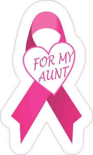 For My Aunt Breast Cancer Ribbon Sticker