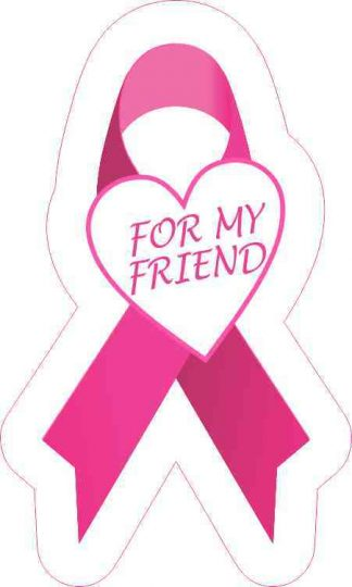 For My Friend Breast Cancer Ribbon Sticker