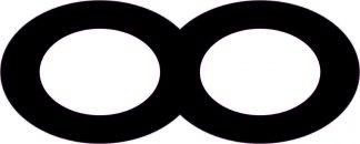 Black Infinity Symbol Sticker