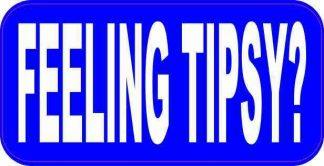 Blue Feeling Tipsy Sticker