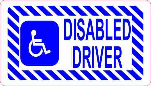 Disabled Driver Sticker