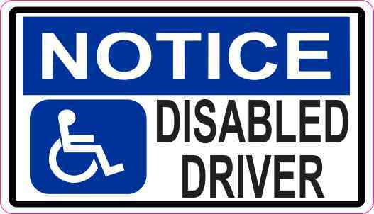 Notice Disabled Driver Magnet