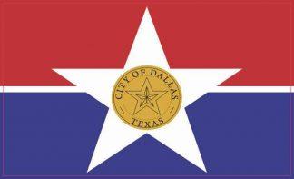 Dallas Texas Flag Sticker