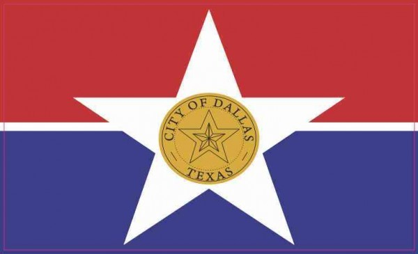 Dallas Texas Flag Sticker