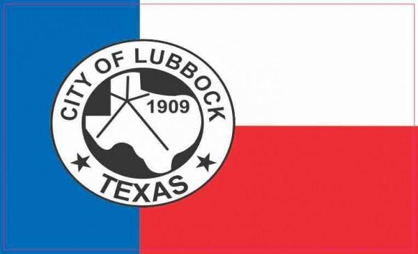 Lubbock Texas Flag Sticker