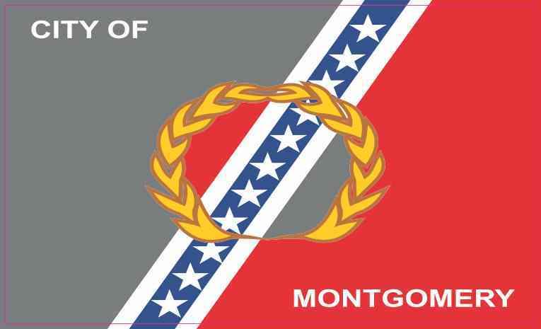 Montgomery Alabama Flag Magnet