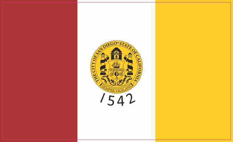 San Diego California Flag Sticker