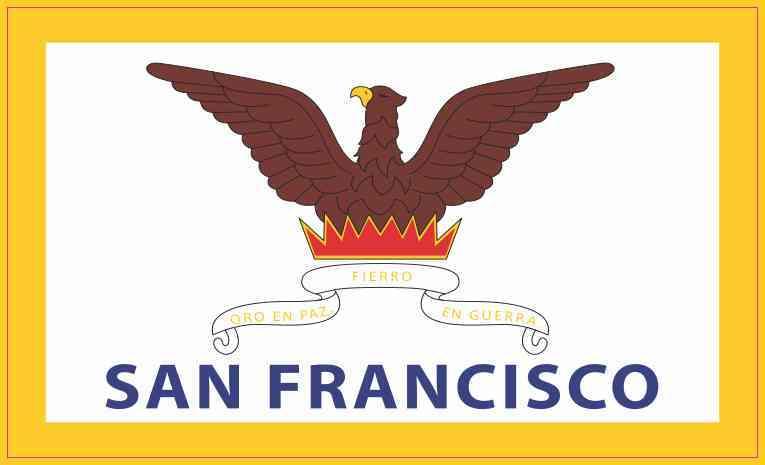 San Francisco California Flag Sticker