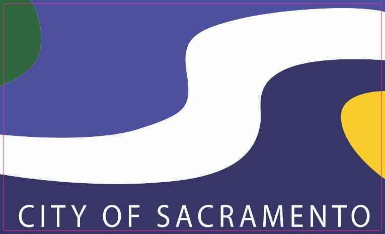 Sacramento California Flag Sticker