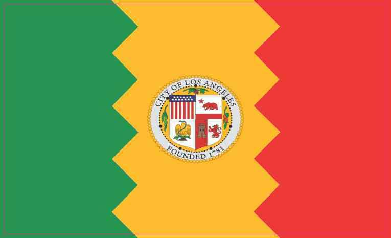 Los Angeles California Flag Magnet