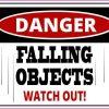 Danger Falling Objects Sticker