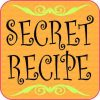 Patterned Orange Secret Recipe Sticker