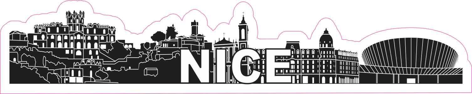 Nice Skyline Sticker