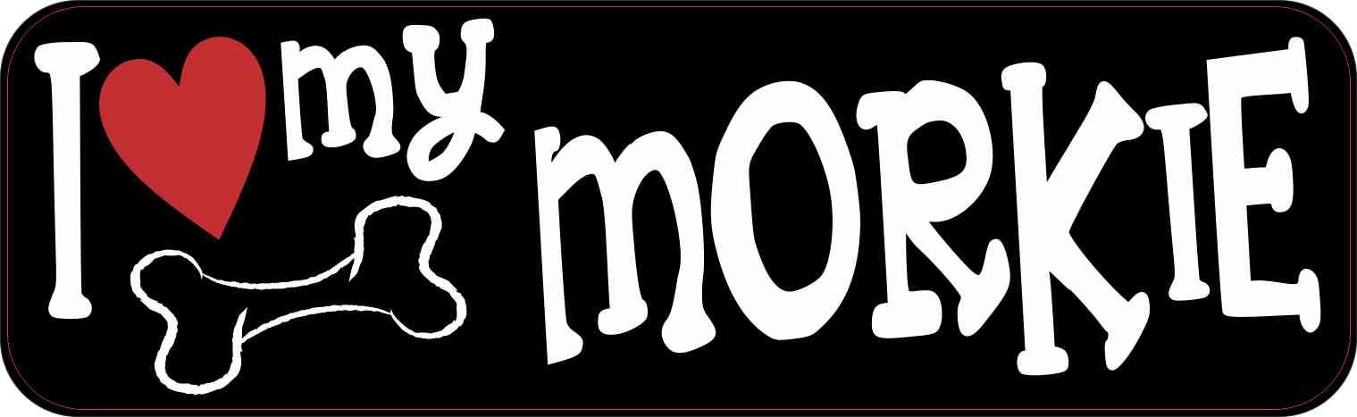 I Love My Morkie Bumper Sticker