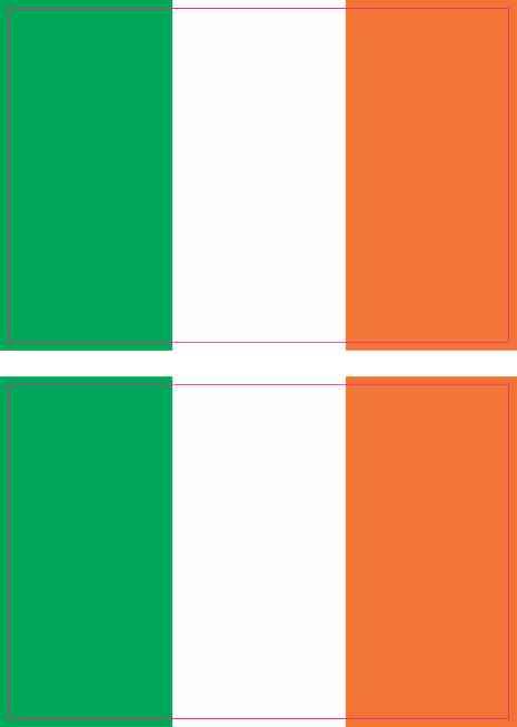Irish Flag Stickers