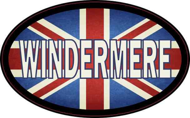 Oval UK Flag Windermere Sticker