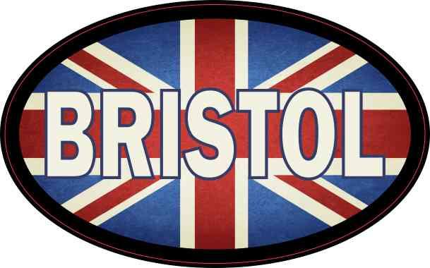 Oval UK Flag Bristol Sticker