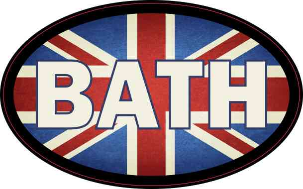 Oval UK Flag Bath Sticker