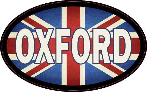 Oval UK Flag Oxford Sticker