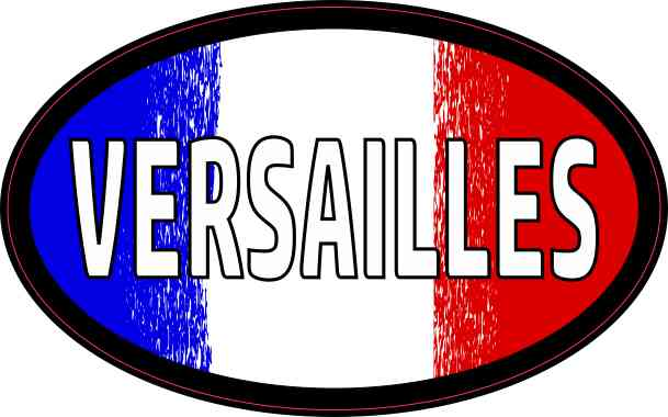 Oval French Flag Versailles Sticker