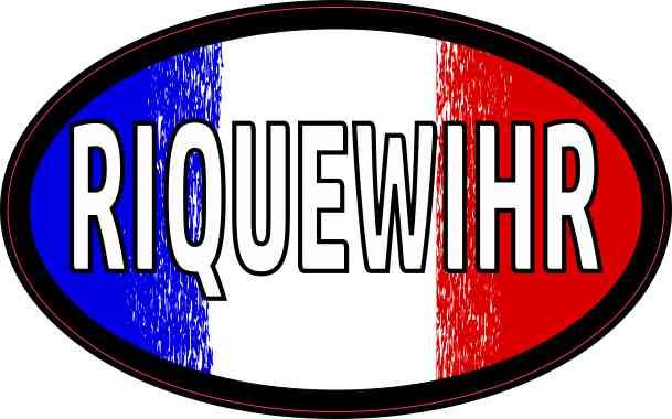 Oval French Flag Riquewihr Sticker