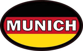 Oval German Flag Munich Sticker