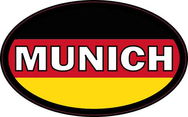 Oval German Flag Munich Sticker