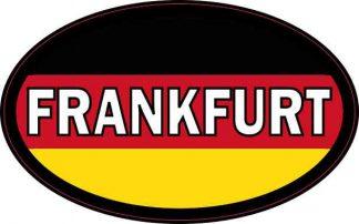 Oval German Flag Frankfurt Sticker