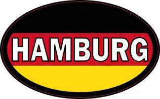 Oval German Flag Hamburg Sticker