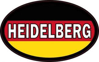 Oval German Flag Heidelberg Sticker