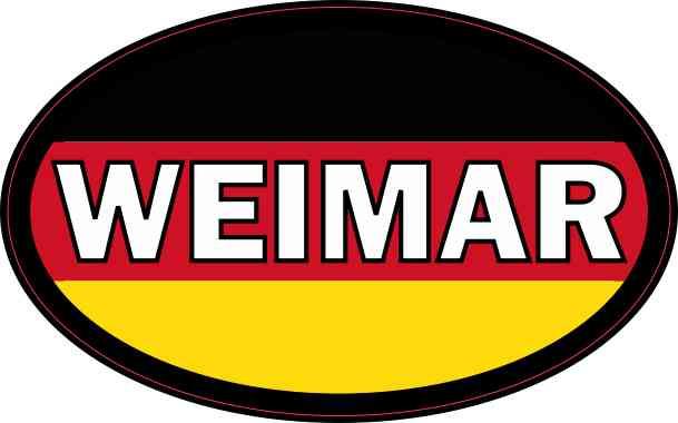Oval German Flag Weimar Sticker