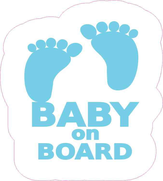 Blue Baby on Board Sticker