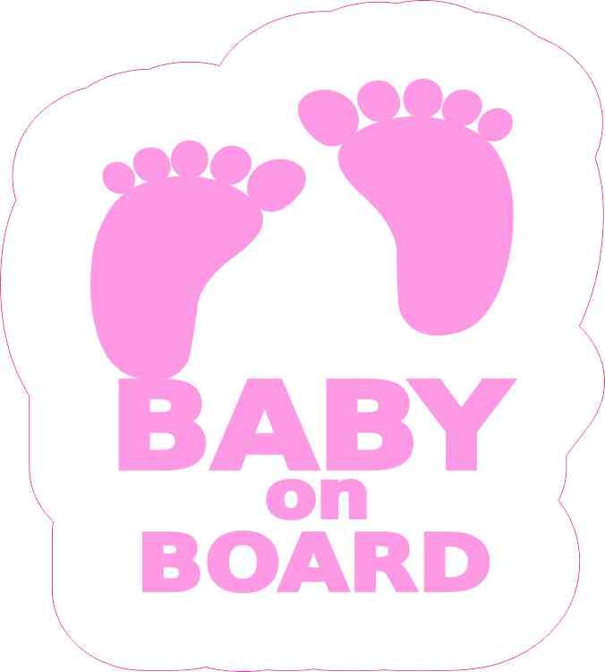 Pink Baby on Board Sticker