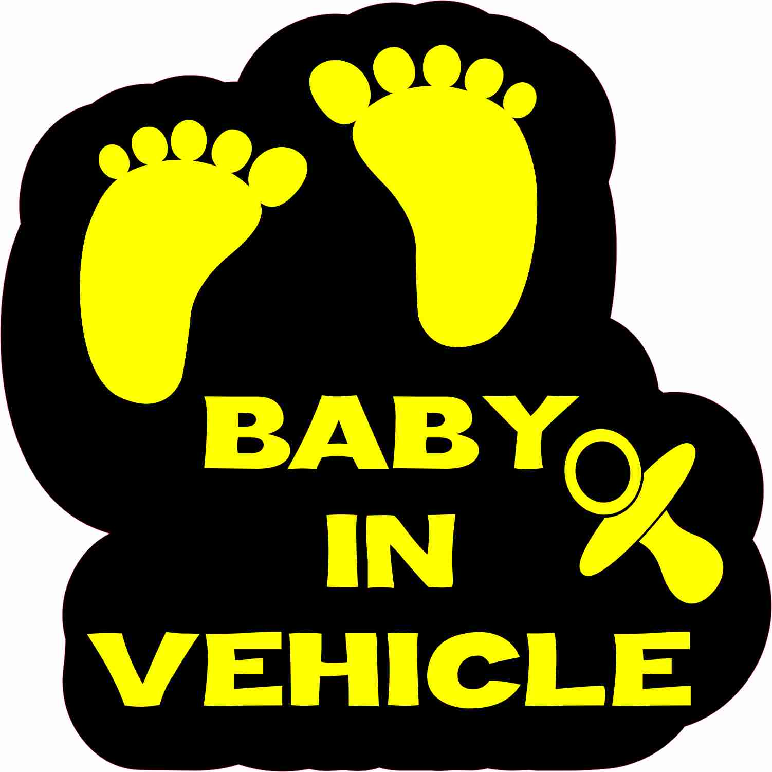 Baby in Vehicle Sticker
