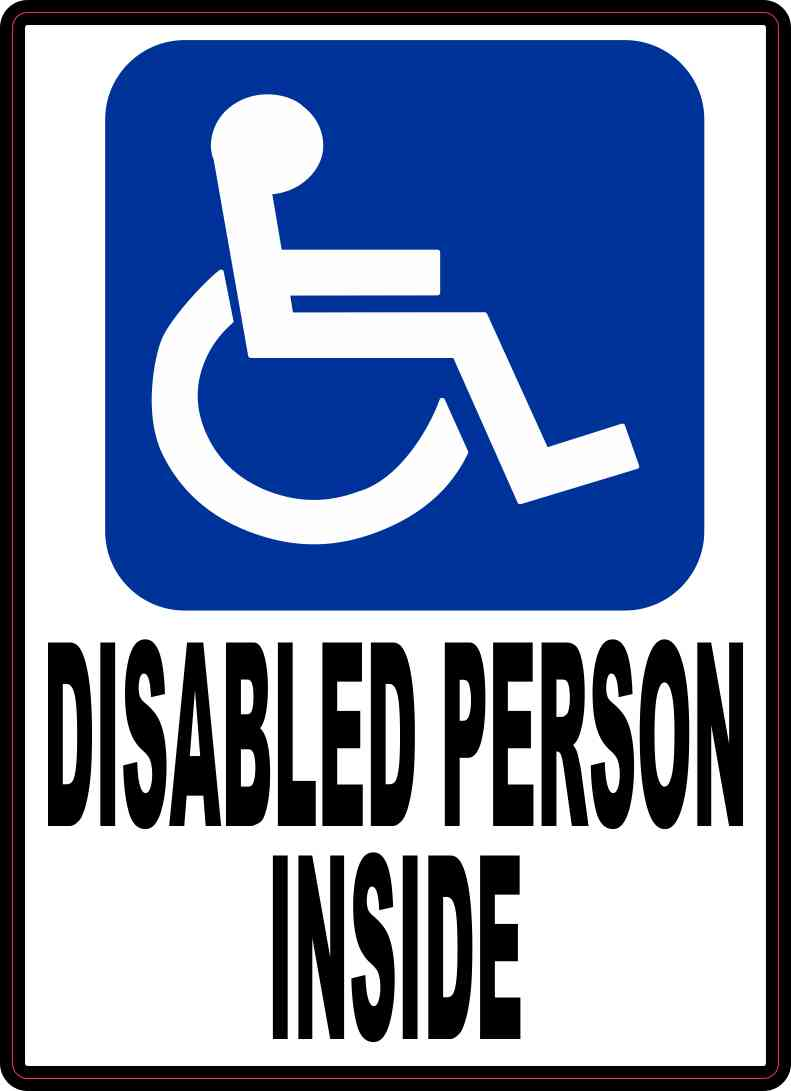 Disabled Person Inside Magnet