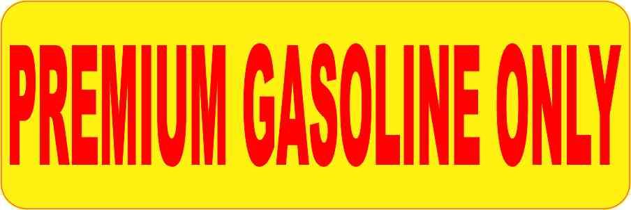 gasoline sticker