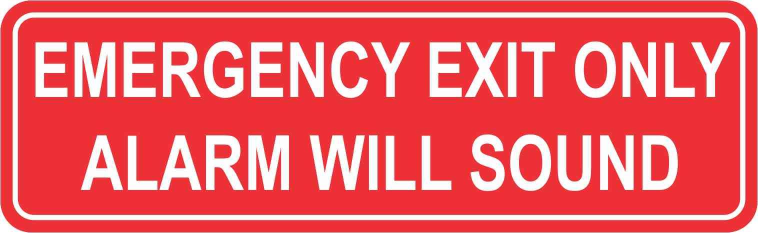 Emergency Exit Sticker