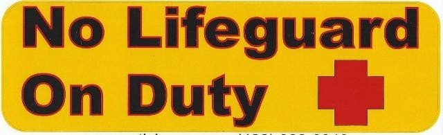 No Lifeguard On Duty Magnet
