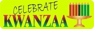 Celebrate Kwanzaa Bumper Sticker