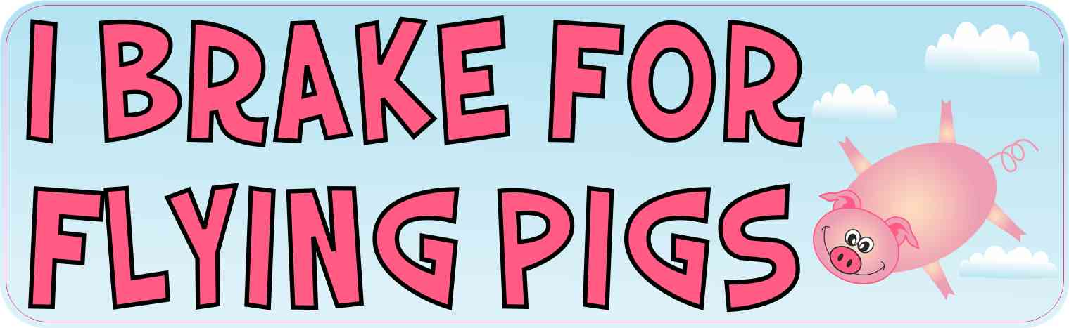 I Brake for Flying Pigs Magnet