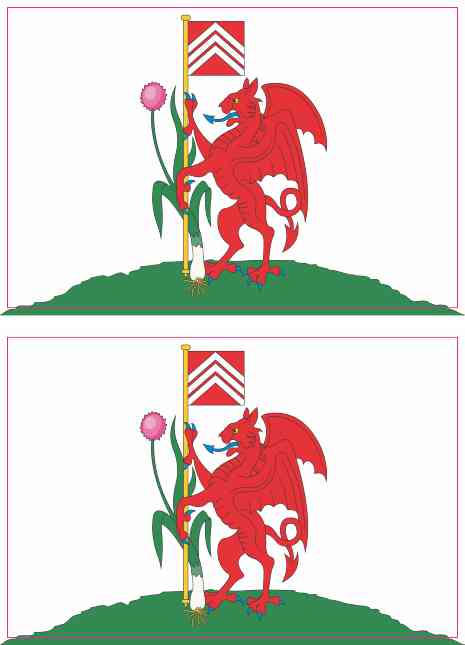 Cardiff Flag Stickers