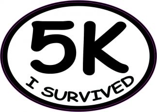 Oval I Survived 5K Sticker