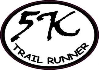 Oval Trail Runner 5K Sticker