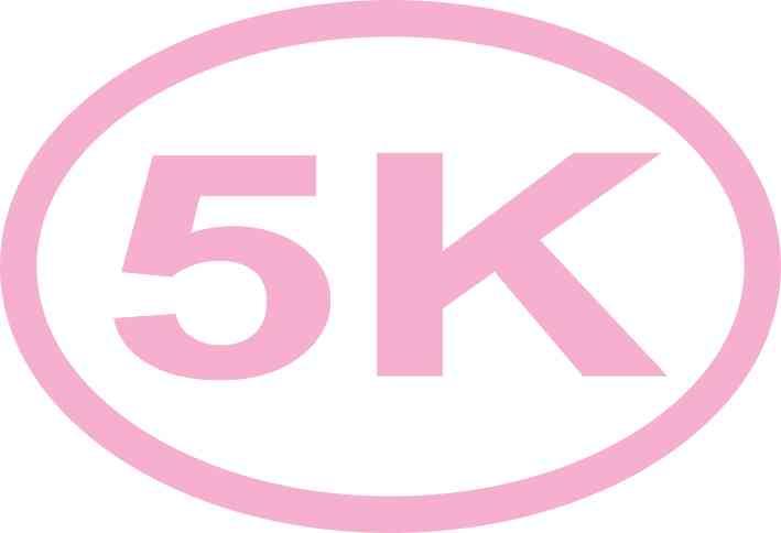 Pink Oval 5K Sticker