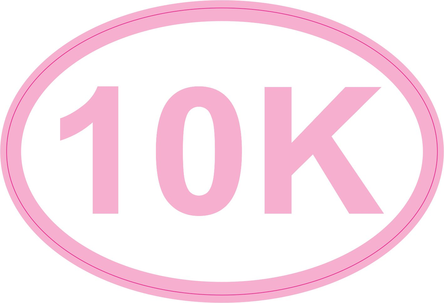 Pink Oval 10K Sticker