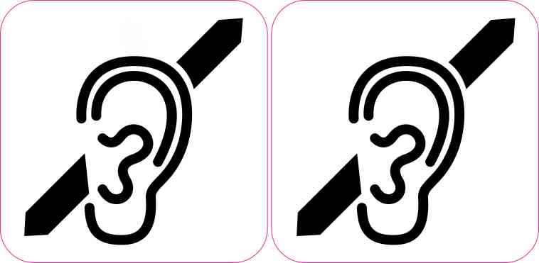 Deaf Symbol Stickers