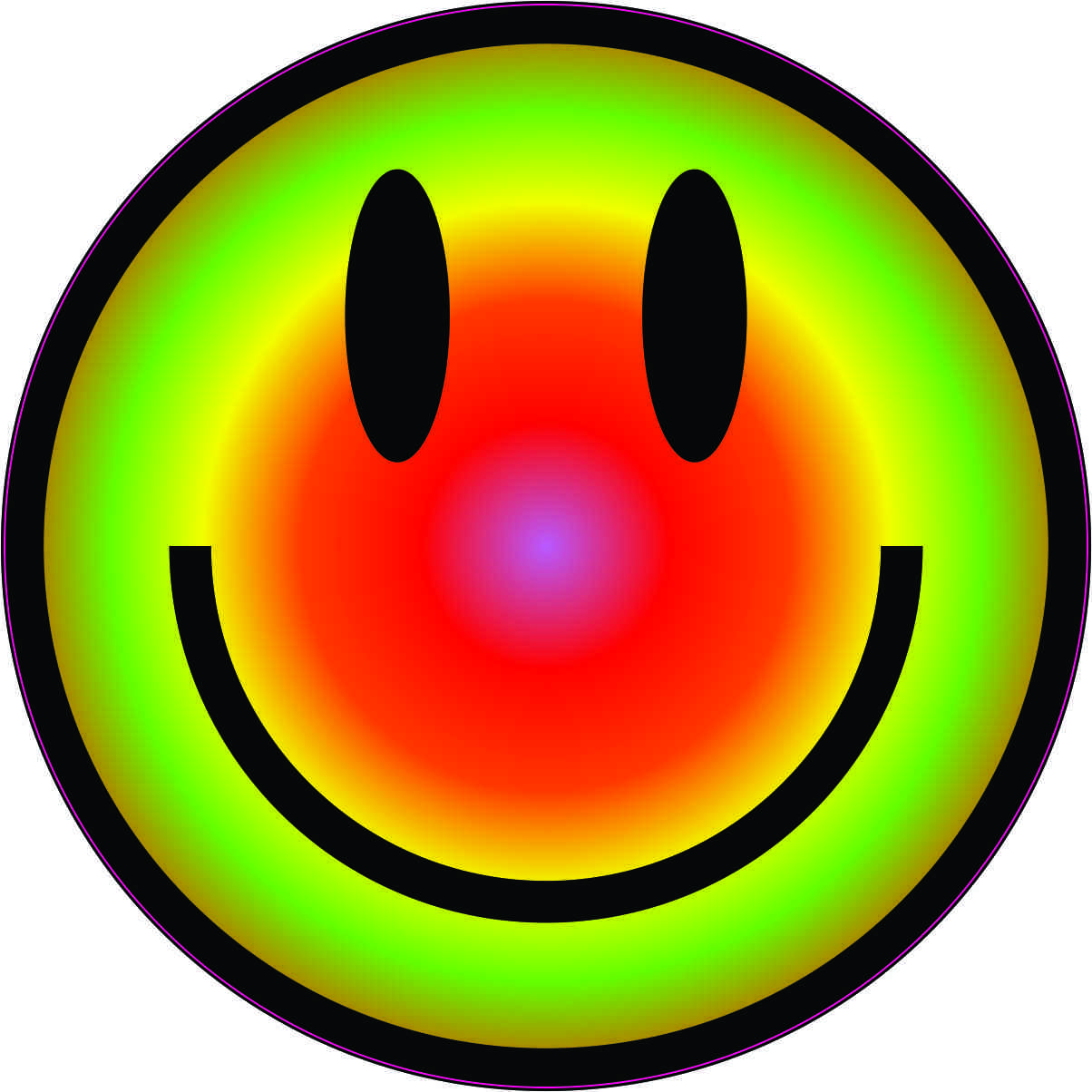 Colorful Smiley Face Sticker