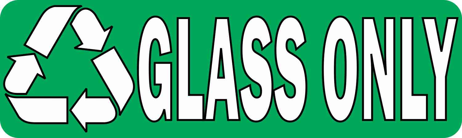 Recycle Glass Only Sticker